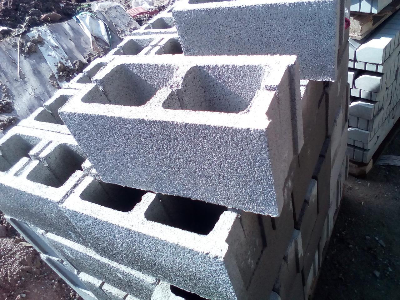 Сплитерный блок 390х190х190 гладкий Серый (толстостенный)
