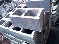 Сплитерный блок 390х190х190 гладкий Серый (толстостенный), фото 1