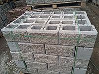 Сплитерный блок 390х190х190 Рваный  Серый, фото 1