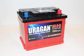 Аккумулятор для автомобиля URAGAN 6СТ-60 VL AПЗ (0)
