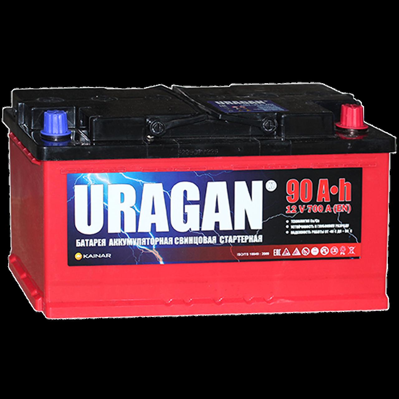 Аккумулятор для автомобиля URAGAN 6СТ-90 VL AПЗ (0)