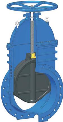 Задвижка с обрезиненным клином GTK-18, фото 2