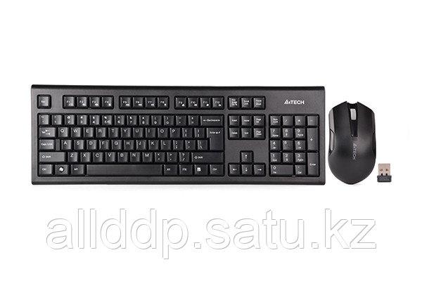 Беспроводной комплект, Клавиатура + Мышь, A4tech 3000N, V-Track G7, Black, USB
