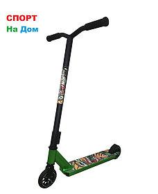 Трюковый самокат SHOW YOURSELF Black-Green (Хром)