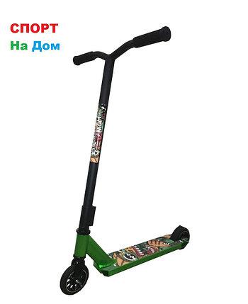 Трюковый самокат SHOW YOURSELF Black-Green (Хром), фото 2