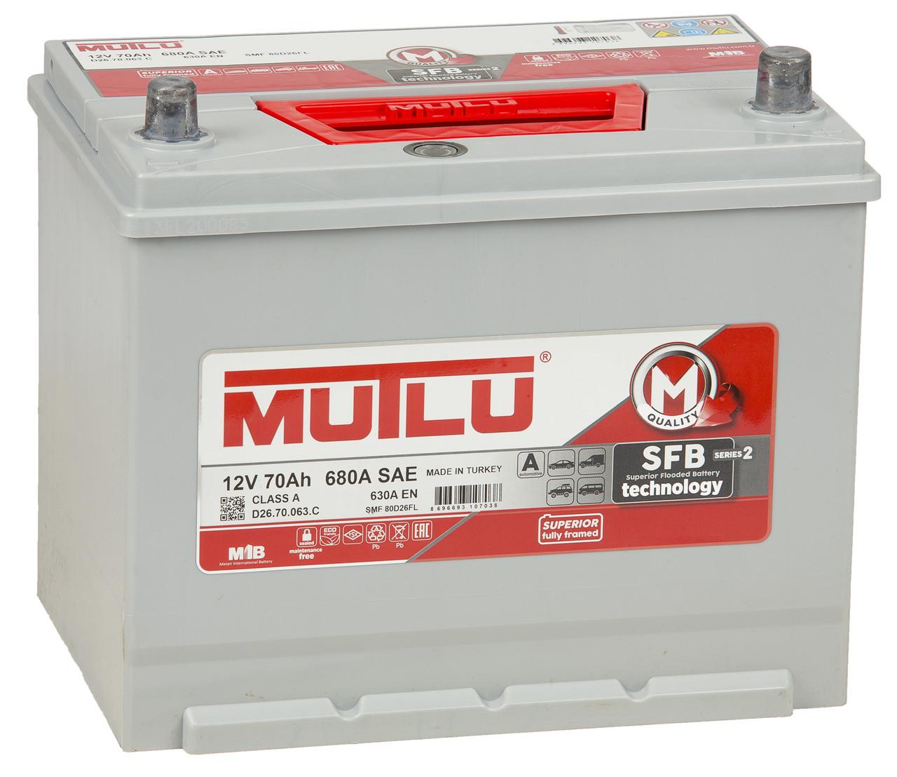 Аккумулятор для автомобиля MUTLU 70AH SMF80D26FL