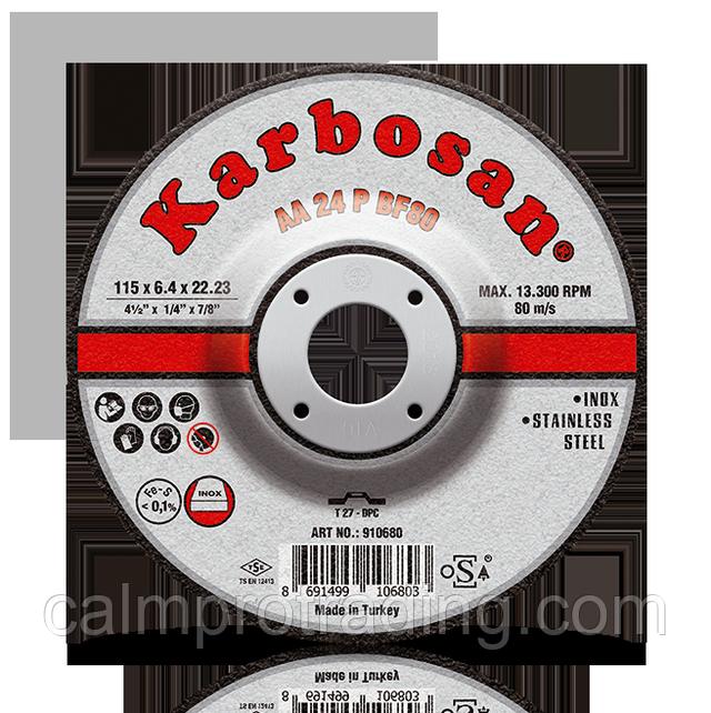 Диск шлифовальный 230х6,4х22,2 мм, AA24P