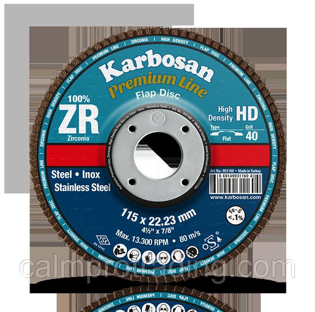 Диск лепестковый, кон. 125х22,2 мм, ZR40