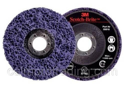 Диск зачистной 3M Scotch-Brite Clean and Strip XT-RD S XCS Ø 115x22 мм (пурпурный) (05818)