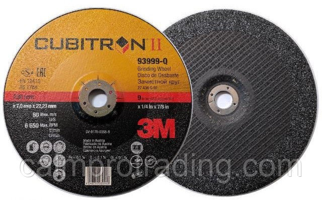 Диск шлифовальный, 230х7,0х22, CUBITRON II DCGW