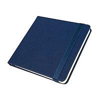 Ежедневник недатированный Quadro, A5-, темно-синий, кремовый блок, Темно-синий, -, 24730 26