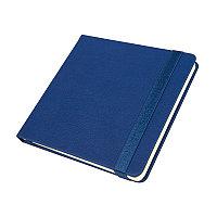 Ежедневник недатированный Quadro, A5-, синий, кремовый блок, Синий, -, 24730 25