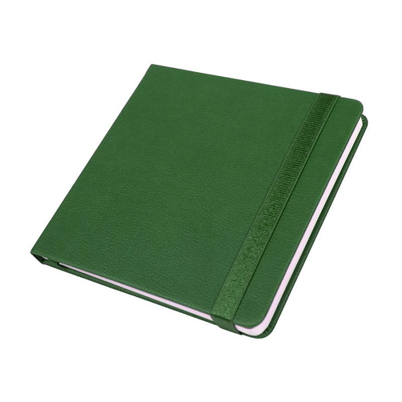 Ежедневник недатированный Quadro, A5-, зеленый, кремовый блок, Зеленый, -, 24730 15