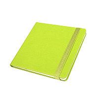Ежедневник недатированный Quadro, A5-, зеленое яблоко, кремовый блок, Зеленый, -, 24730 27