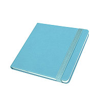 Ежедневник недатированный Quadro, A5-, бирюзовый, кремовый блок, Голубой, -, 24730 07
