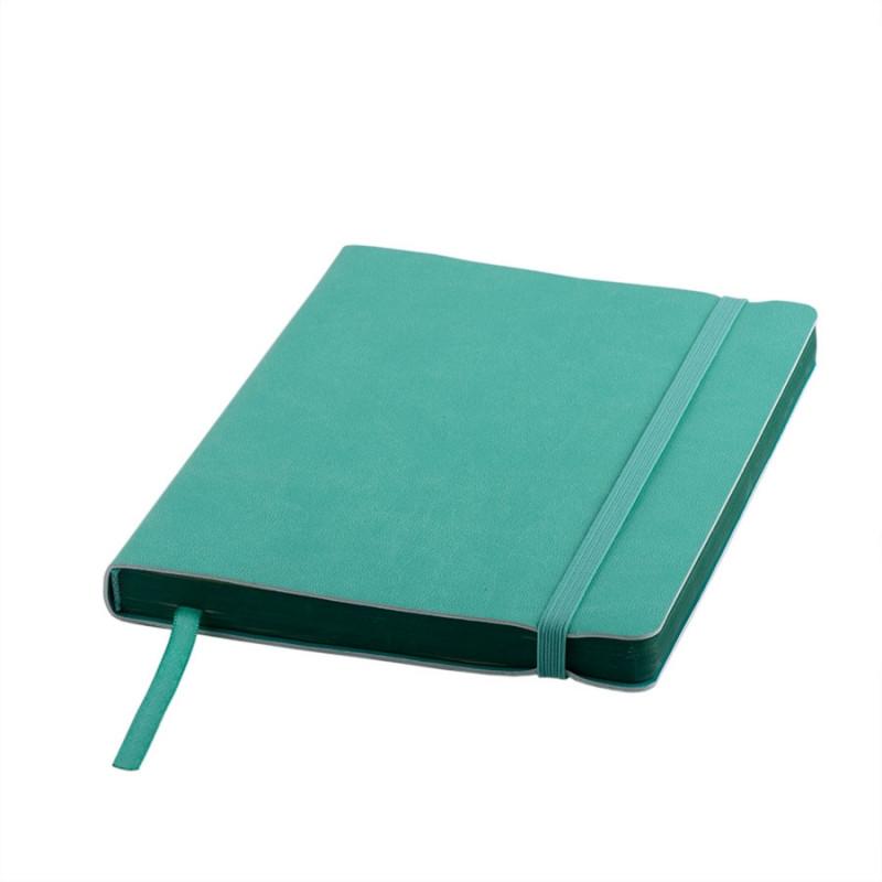 Ежедневник недатированный Shady, А5,  мятный, кремовый блок, зеленый обрез, Зеленый, -, 24700 16