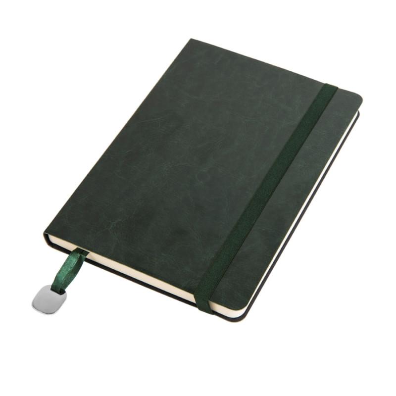 Ежедневник недатированный Boomer, А5,  темно-зеленый, кремовый блок, без обреза, Зеленый, -, 24702 17