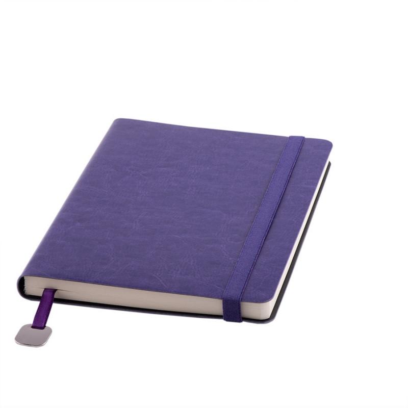 Ежедневник недатированный Boomer, А5,  фиолетовый, кремовый блок, без обреза, Фиолетовый, -, 24702 11