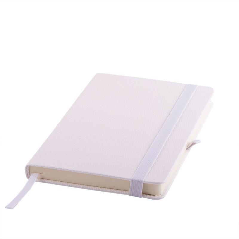 Ежедневник недатированный Barry, А5,  белый металлик, кремовый блок, без обреза, Белый, -, 24704 01