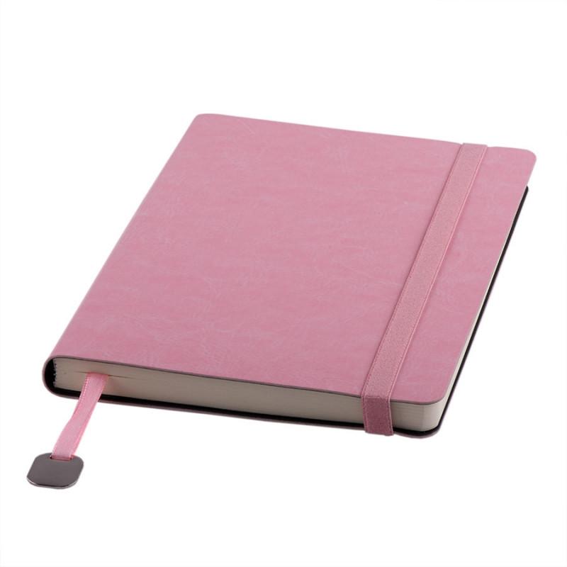 Ежедневник недатированный Boomer, А5,  светло-розовый, кремовый блок, без обреза, Розовый, -, 24702 38