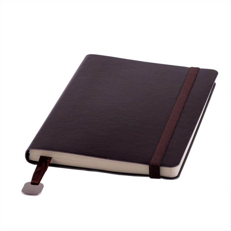 Ежедневник недатированный Boomer, А5,  темно-коричневый, кремовый блок, без обреза, Коричневый, -, 24702 33
