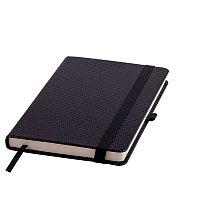 Ежедневник недатированный Barry, А5,  черный, кремовый блок, без обреза, Черный, -, 24704 35