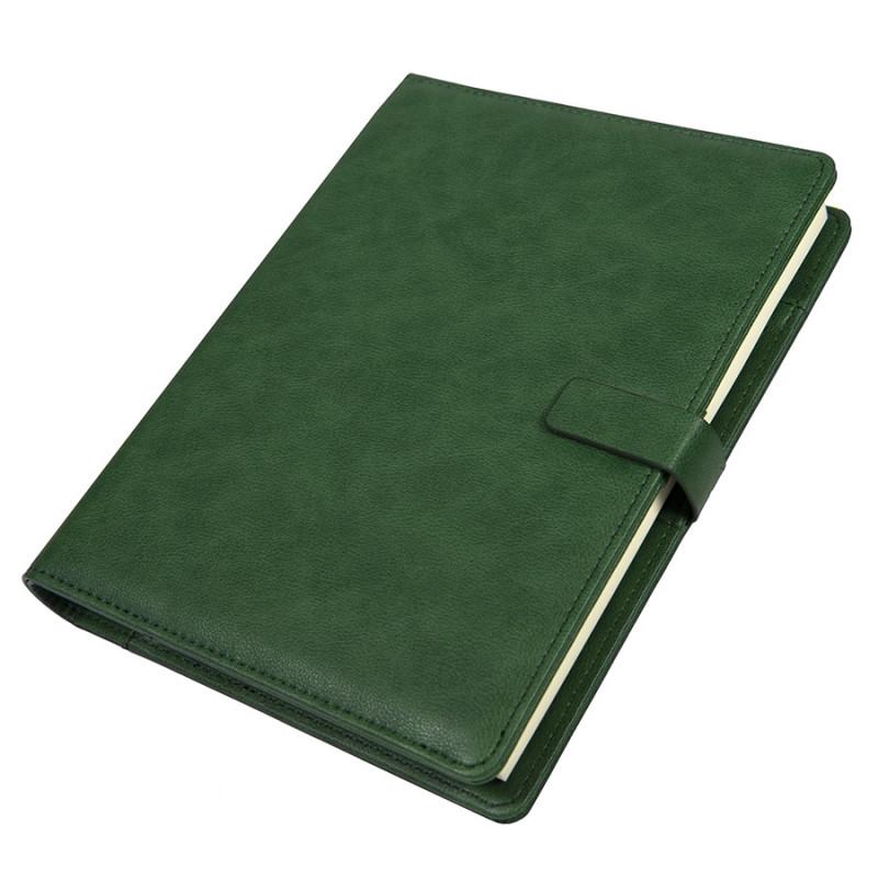 Ежедневник недатированный Coach, B5, зеленый, кремовый блок, подарочная коробка, Зеленый, -, 24735 15