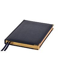 Ежедневник полудатированный Rarity, A5, темно-синий, рециклированная кожа, кремовый блок, подарочная,, фото 1