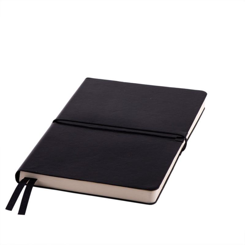 Ежедневник недатированный Save , A5, черный,  рециклированная кожа, кремовый блок, подарочная коробк, Черный,