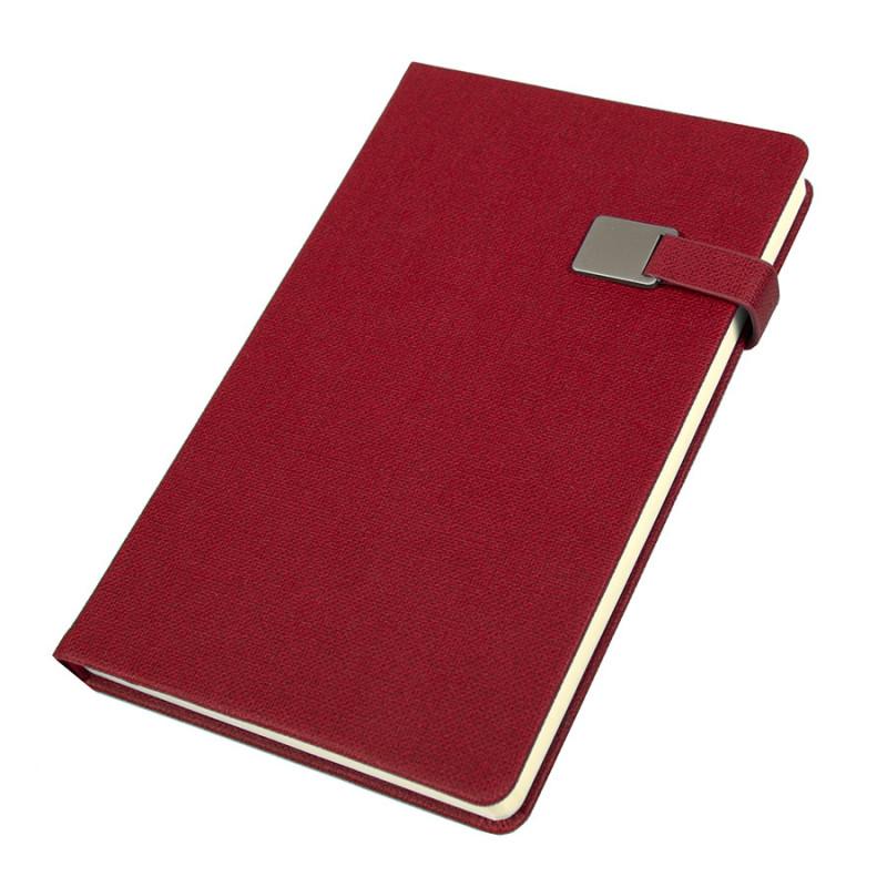 Ежедневник недатированный Linnie, А5, красный, кремовый блок, Красный, -, 24733 08