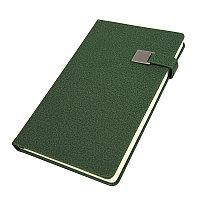 Ежедневник недатированный Linnie, А5, темно-зеленый, кремовый блок, Зеленый, -, 24733 17
