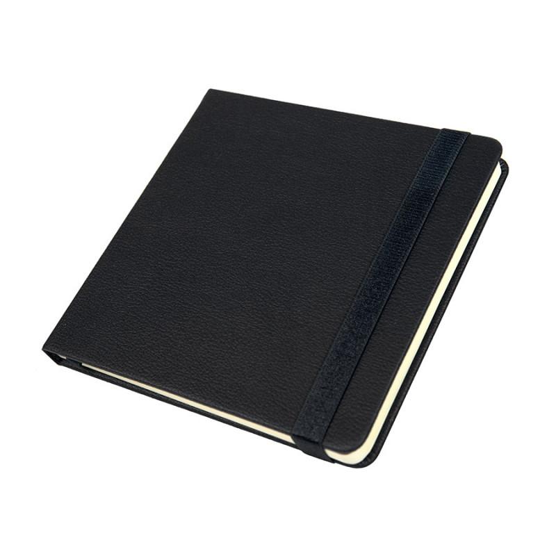 Ежедневник недатированный Quadro, A5-, черный, кремовый блок, Черный, -, 24730 35