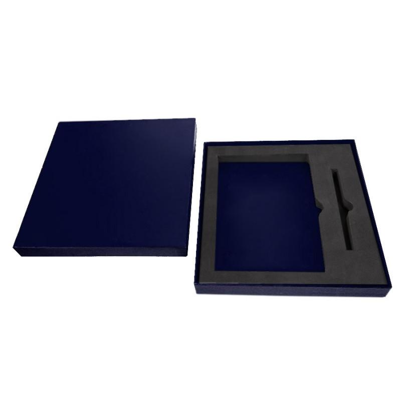 Коробка под ежедневник 145*205 мм и ручку, Темно-синий, -, 24722 26