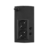 UT650E_ИБП CyberPower UT650E , Line-Interactive, 650VA/360W, 2 Schuko розеток, RJ11/RJ45, Black