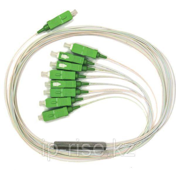 Сплиттер PLC 1x8 steel tube 0,9mm 1,5m G657 SC/APC