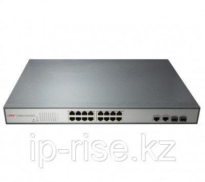 Коммутатор PoE 16-портовый ONV POE31016PF  16 портов 10/100Mbps PoE 802.3af (15.4W на порт), 2 Gigab