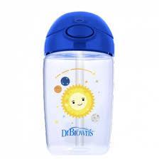 Чашка поильник Dr.Brown's 350 мл с трубочкой 12+,синяя планета
