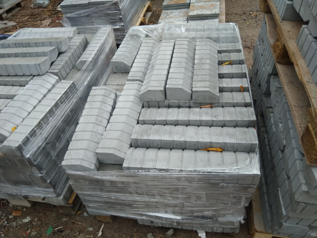 Бордюр 500x120x80 для тротуарной плитки  Серый