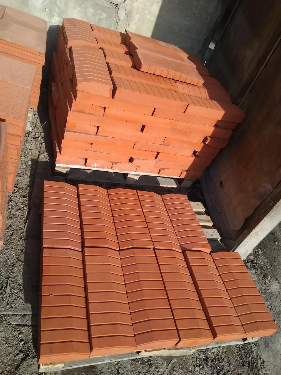Бордюр 500x200x70 для тротуарной плитки  Красный
