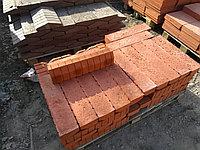 Бордюр 500x120x80 для тротуарной плитки  Красный, фото 1