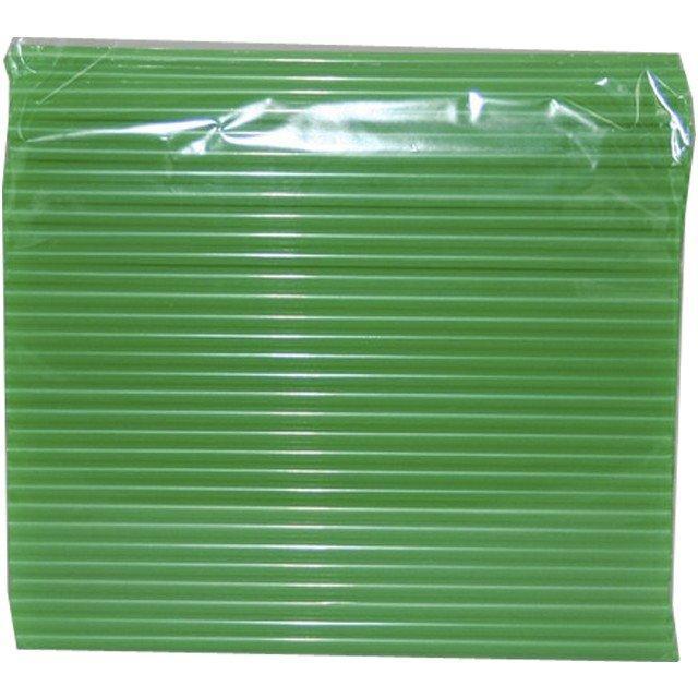 Трубочки д/коктейля прямые d=8мм L=240мм, зеленые 250шт/упак, 250 шт