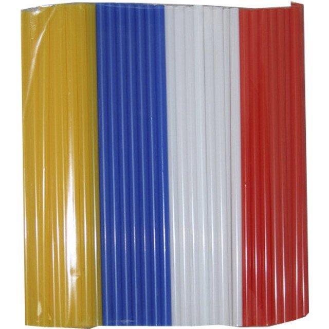 Трубочки д/коктейля прямые d=8мм L=240мм, цветные MIX  250шт/упак, 250 шт