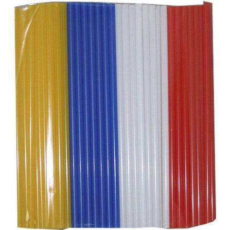 Трубочки д/коктейля прямые d=8мм L=240мм, цветные MIX  250шт/упак, 250 шт, фото 2