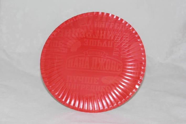 Тарелка d 240мм, ламинир., с логотипом, картон, 700 шт, фото 2