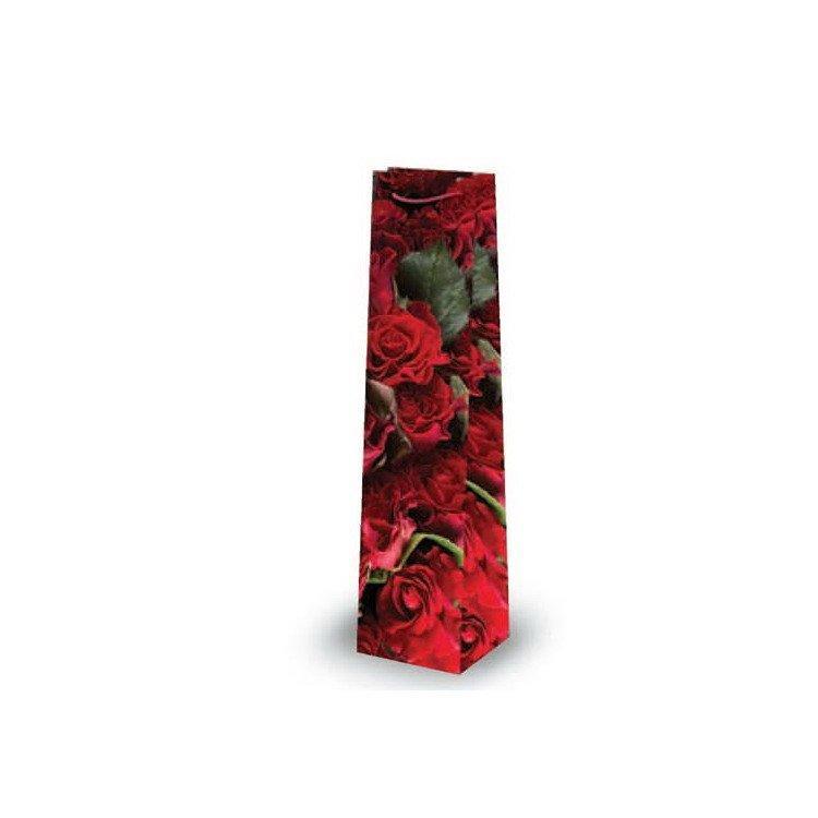 """Пакет ламин. 10х40х9см """"Красные розы"""", бумага, 10 шт"""