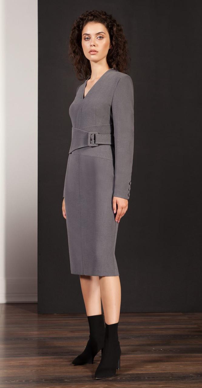 Платье Nova Line-5866, серый, 42