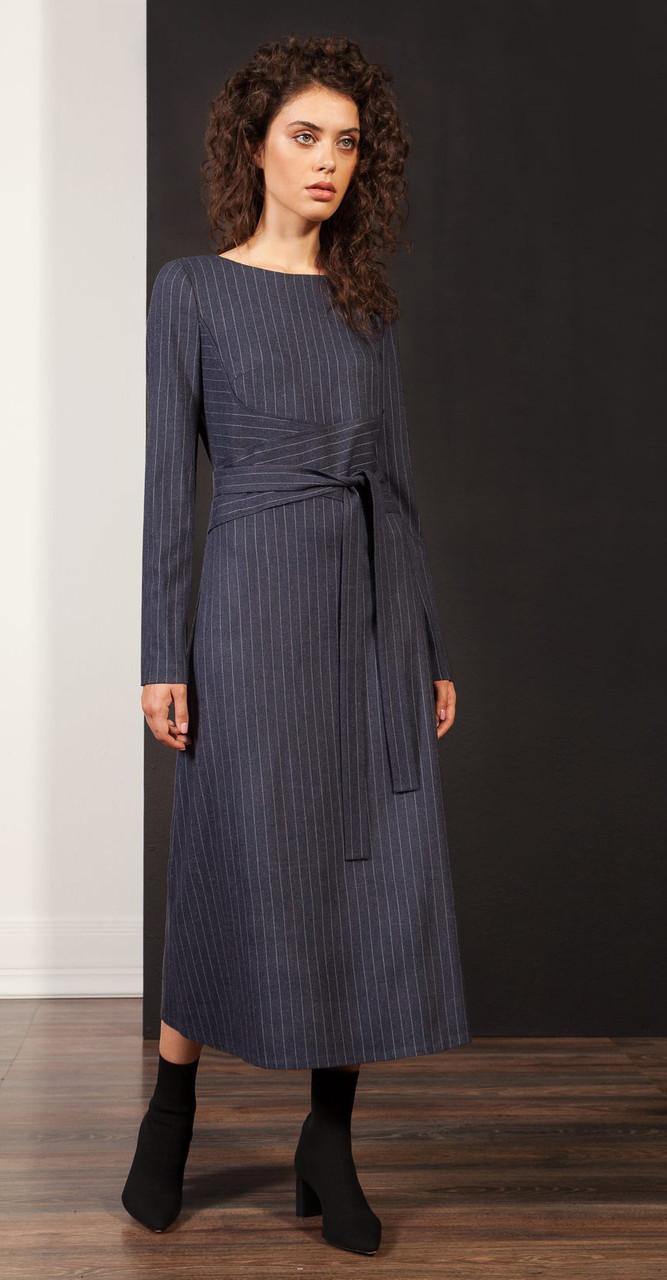 Платье Nova Line-5879, синий в полоску, 42