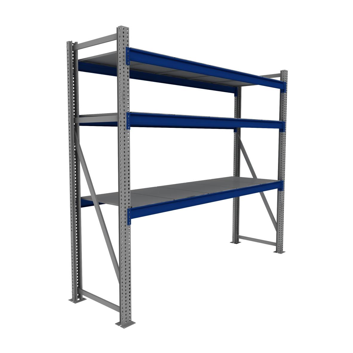 Стеллаж складской базовый 2400/1500/600