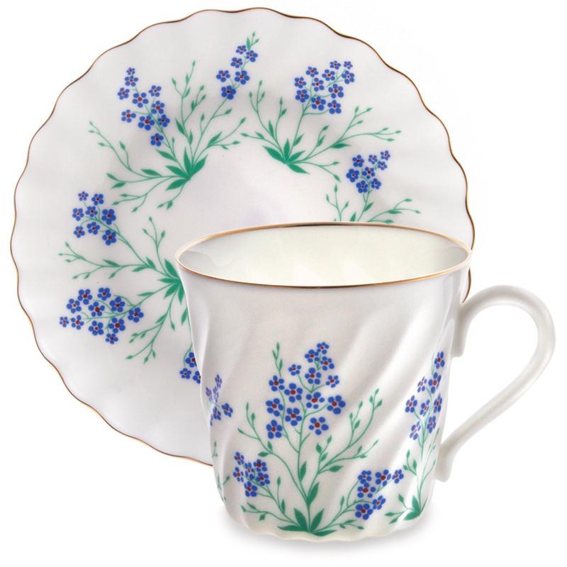 Чашка с блюдцем У Ручья. Императорский фарфор, авторская работа