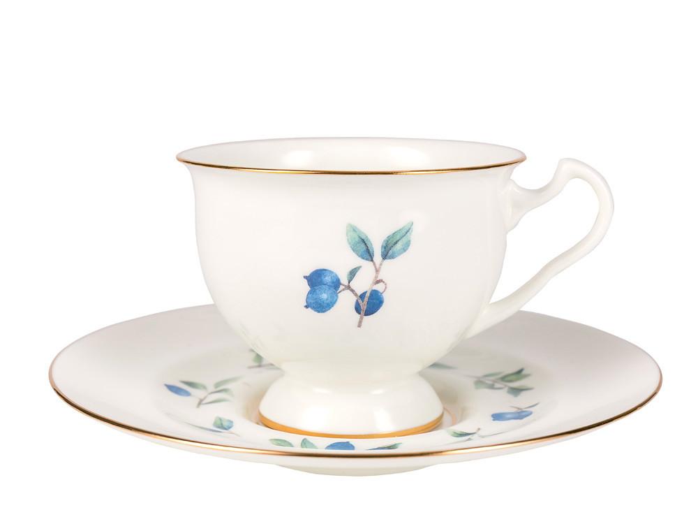Чашка с блюдцем Голубика. Императорский фарфор, авторская работа
